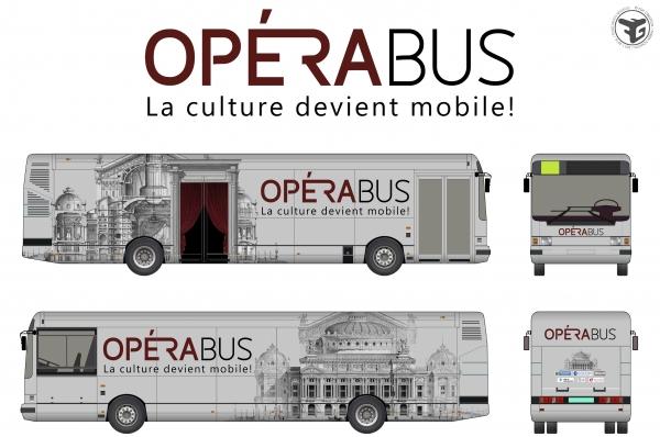 Design graphique de L'Opérabus