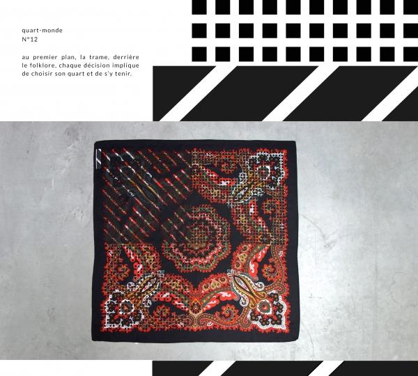 projet artistique : création textile basé sur des foulards vintage.