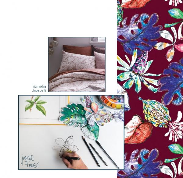 Création de motifs pour la marque de linge de maison Sanelin