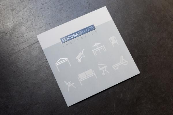 Plicosa. Leader français de mobilier outdoor B2B. Invitation pour l'évènement showroom annuel.