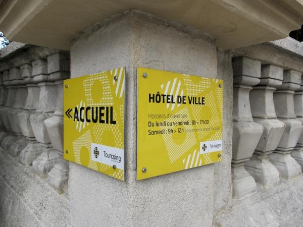 Signalétique de la ville de Tourcoing