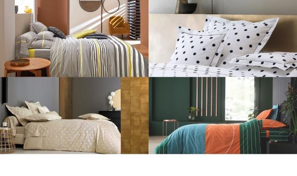 Motifs linge de lit, pour Blanc des Vosges, en collaboration avec Demain la maison (depuis 2016)