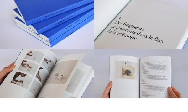 Mise en page mémoire de recherches. Souvenirs sensibles, format 14 x 19 cm, 182 pp. (2015)