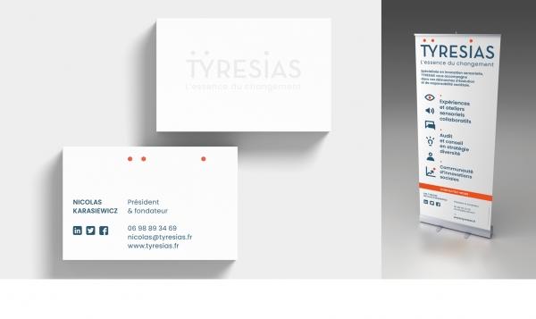 Identité visuelle TYRESIAS, entreprise sociale (2018)