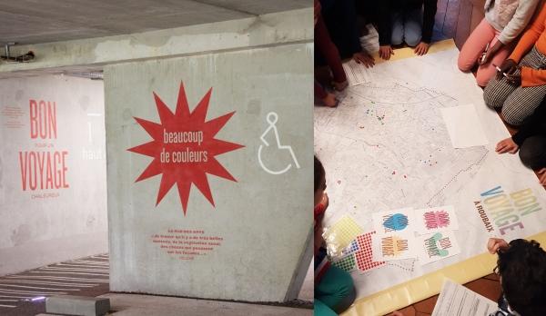 BON pour un VOYAGE À Roubaix : Projet scénographique participatif dans le parking de la Gare de Roubaix, pour donner à voir la ville sous le prisme des émotions des habitants