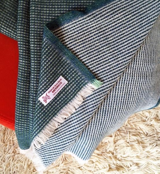 Collaboration Ensci-Brun de Vian Tiran // Plaid en laine Mérinos