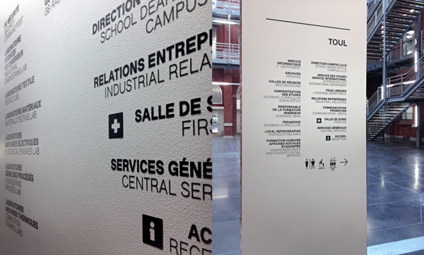 Signalétique — Campus HEI - Lille