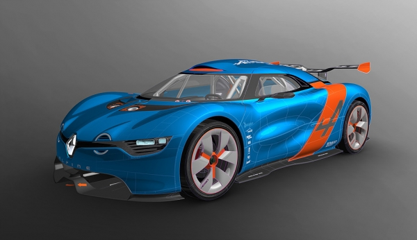 Modélisation du concept car Alpine A110-50 qui à permis de relancer la marque Alpine