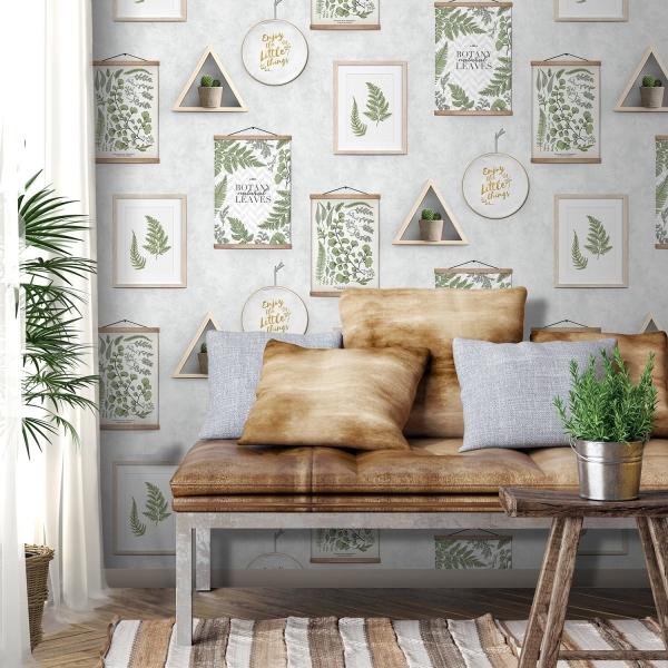 papier peint trompe l'oeil tendance  botanique