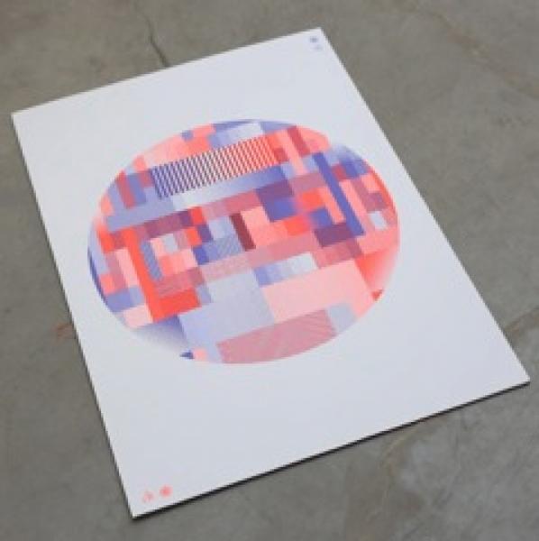Affiche « no signal » réalisé pour le festival lillois Combo-Combo