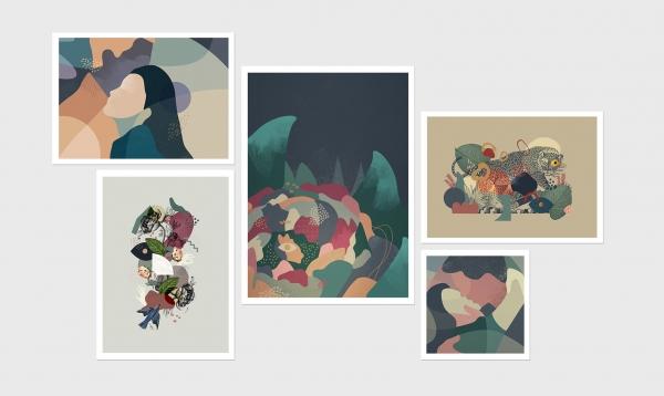 Digigraphies réalisées pour la Galerie L'illu