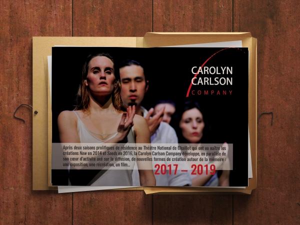 CCCY  2016 + 2017 | MISSION P/O CAROLYN CARLSON COMPANY PLAQUETTE | DIRECTION ARTISTIQUE |  CREA + FORMATION