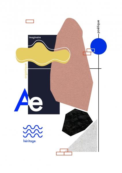 Oeuvre graphique représentant l'identité de la première collection Aequo édition