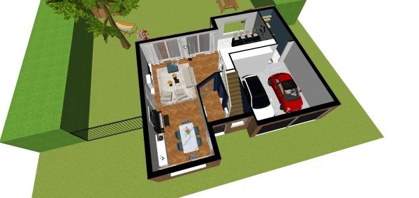 Les nouveaux propriétaires n'avaient d'autre choix qu'une rénovation totale car cette maison était dans son jus, meublée dans un style classique. C'est dans ce contexte qu'ils ont fait appel à HA Design.  Peinte en bleu paon, la nouvelle entrée crée un sa