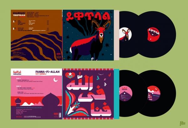 Pochettes de disque. Conception & création, illustration, lettrages, déclinaisons.