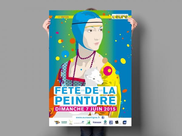 Charte graphique et illustration pour le Conseil départemental de l'Eure