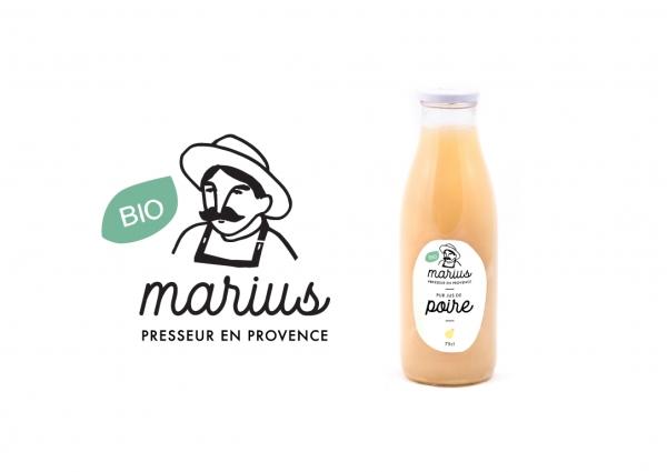 Création de l'identité graphique et de la gamme packaging de la marque Marius