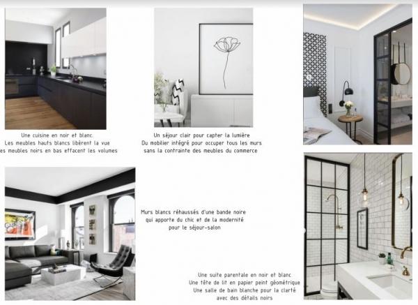Appartement de 100 m² à décorer entièrement, conception d'une cuisine et création d'une suite parentale
