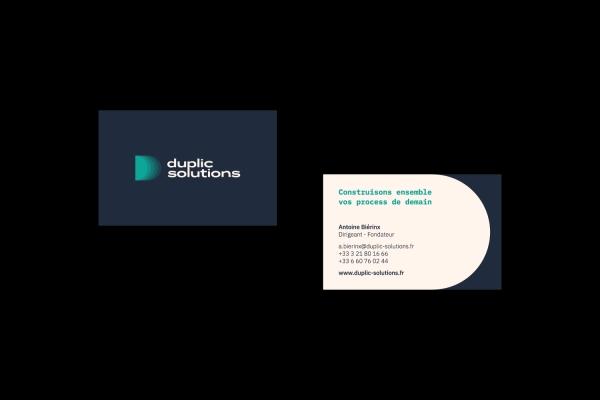 Identité graphique Duplic Solutions