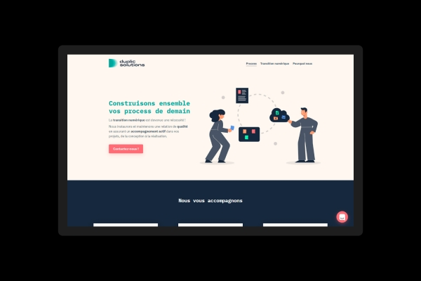 Identité visuelle, design ux/ui et développement web pour l'entreprise Duplic Solutions