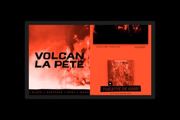 Identité visuelle, design ux/ui et développement web pour le groupe Volcan La Pété
