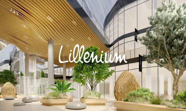 Lillenium Centre commercial à Lille - Aménagement intérieur & direction artistique sur les parkings