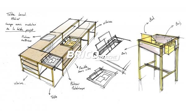 BRICOMARCHÉ - Création du mobilier pour l'espace atelier