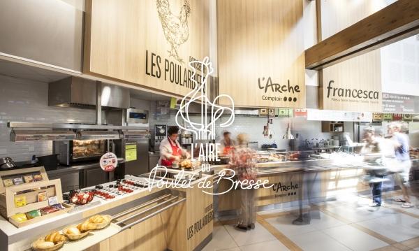 AREAS Aire du Poulet de Bresse - Création de l'identité, aménagement intérieur & exterieur