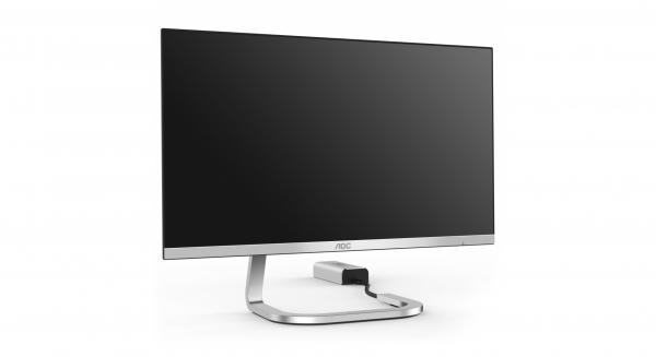 Design visuel pour la communication d'un moniteur AOC sur leur site internet.