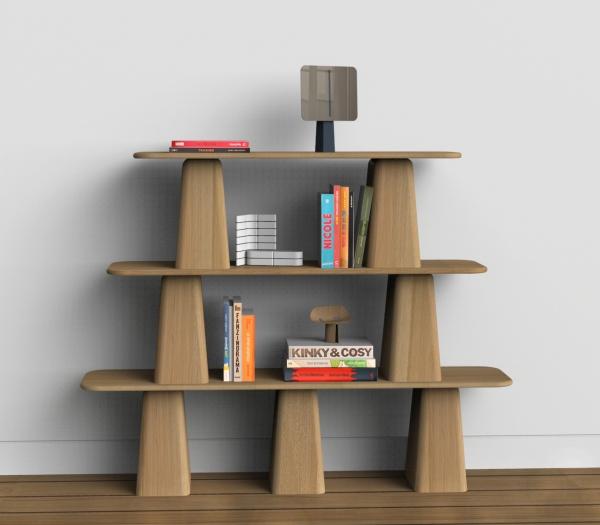 la particularité de cet objet vient de son ergonomie et de sa faculté à se transformer provisoirement. La hauteur entre chaque étage représente 40 cm, ce qui laisse la possibilité d'utiliser une des trois parties sous la forme d'un banc. logo20.png