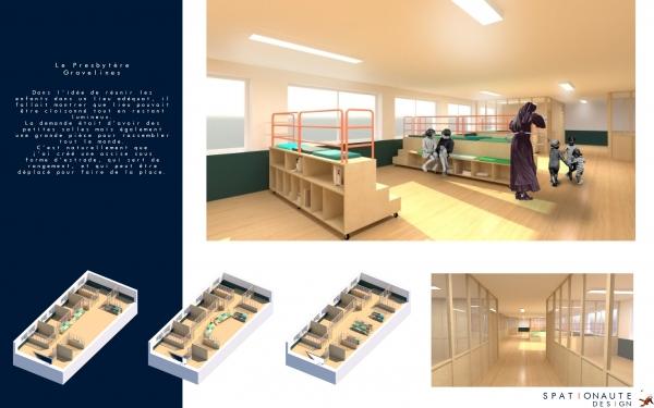 Presbitaire de Gravelines / Agencement et création de mobilier