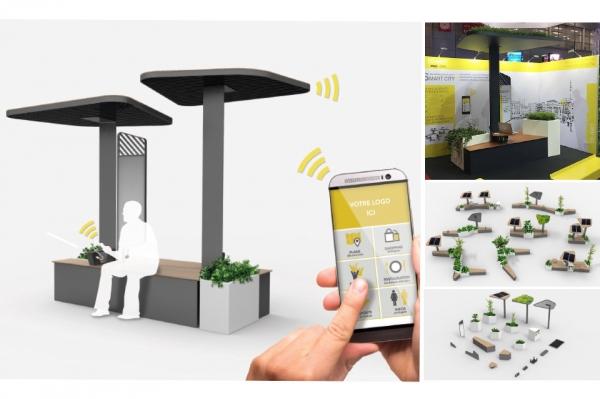Gamme de mobiliers urbain modulables et connectés
