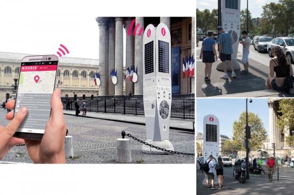 Points info touristiques connectés - ville de Paris