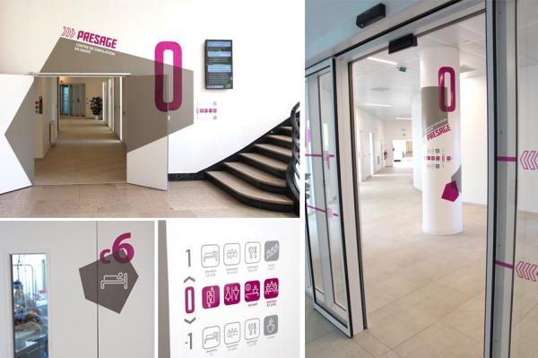 Signaletique pour Centre de Simulation en Santé - Université de Lille/ CHU de Lille