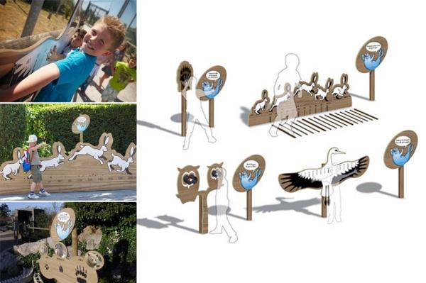 Signaletique & Scénographie pour le Zoo de Mardyck - Communauté Urbaine de Dunkerque