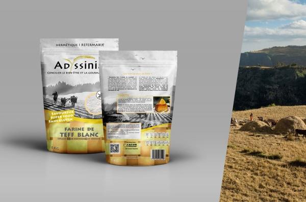 Conception d'une gamme de packaging pour de la farine Teff