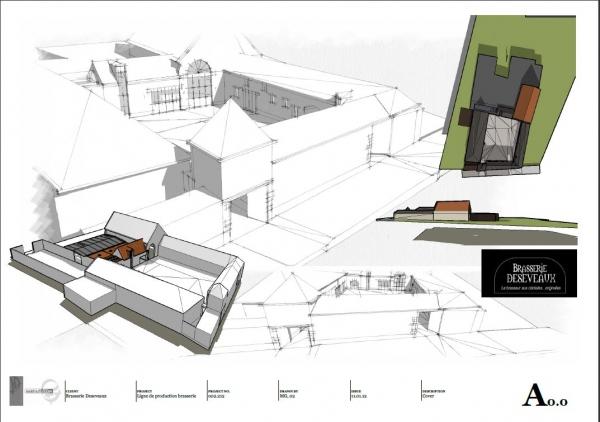aménagement d'une ferme pour installer une brasserie dans les vieux  bâtiments