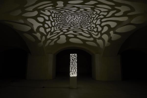 Le hêtre pourpre - Collection de sculptures lumineuses, photophores, dessous de verre, bouteille et plat d'ambiance intérieure et extérieure à poser sur une table, au sol et en suspension.