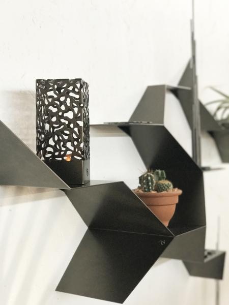 Le rameau botanique - Collection de sculptures de support d'ambiance intérieure à fixer sur le mur.